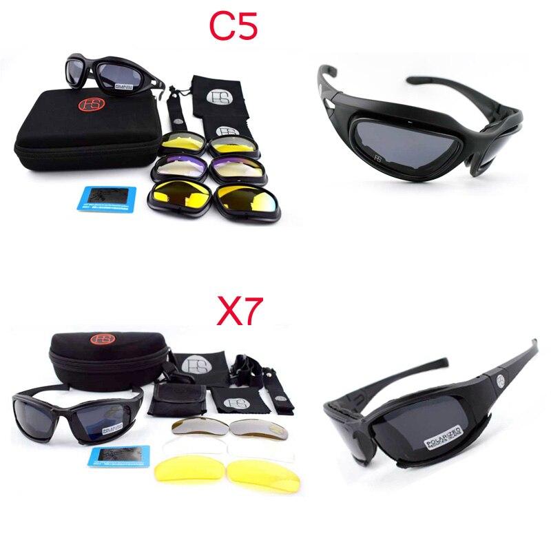 Óculos de Proteção do exército Tático C5 X7 Óculos De Sol Dos Homens Óculos  de Airsoft 7ef68676ff