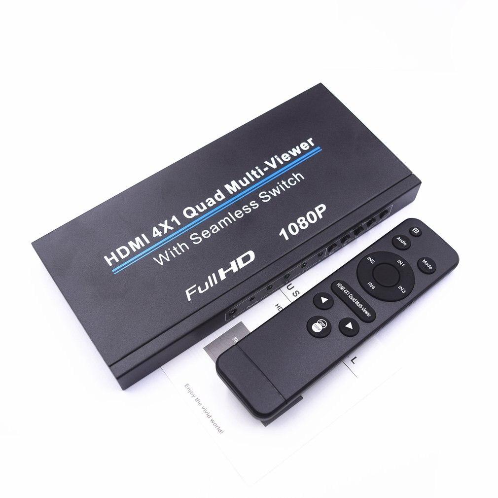 1080 P 4x1 HDMI multi-visionneuse HDMI Quad écran en temps réel multi-visionneuse HDMI séparateur sans soudure commutateur contrôle infrarouge