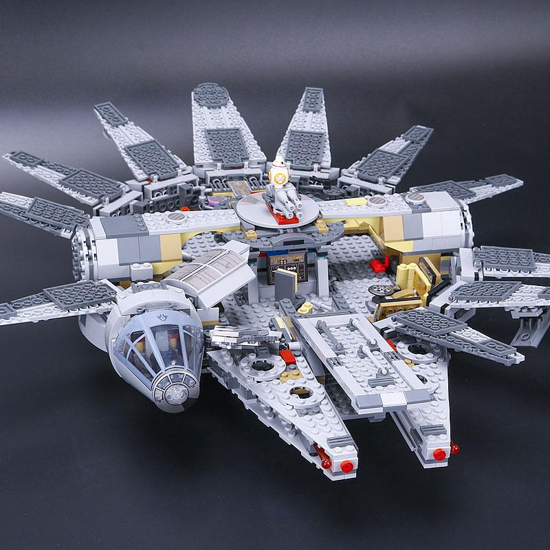 1381 pièces Compatible Force éveille Star Set Wars série millénium Falcon chiffres modèle blocs de construction jouets pour enfants