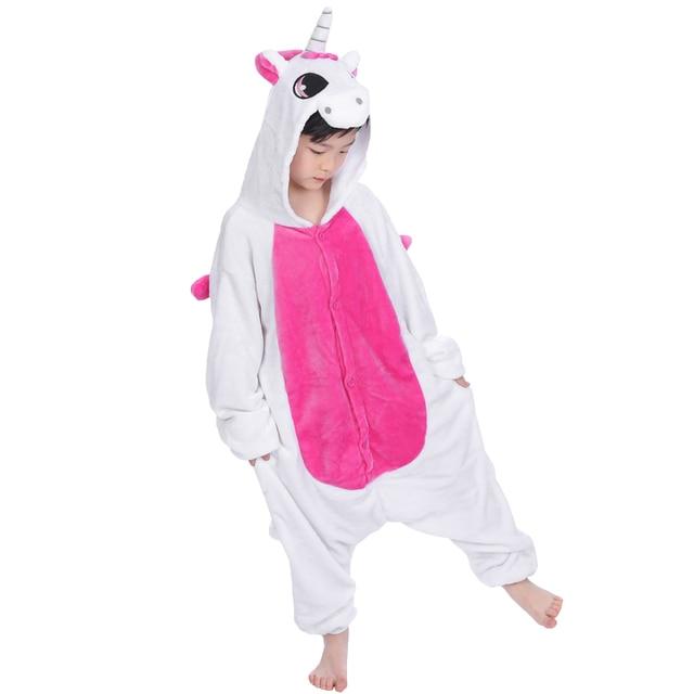 887b04d957385 Pyjama licorne enfants garçon filles pyjamas Animal licorne Cosplay onesie  enfants enfants pijamas hiver chaud vêtements