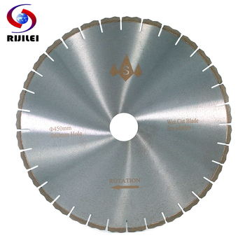 цена на RIJILEI 450mm Marble Silent Diamond Saw Blades Professional cutter blade for marble stone Sharp cutting circular Cutting Tools