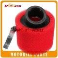 35mm38mm 42mm 45mm 48mm filtro de aire ATV DIRT PIT BIKE 45 Grados ÁNGULO DE ESPUMA Limpiador Del Filtro De Aire Pod CRF50 XR50 CRF 110cc 125cc ROJO