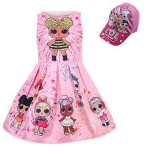 lol doll Toddler Party Princess Christmas Dress Girl Clothes Wedding Kids Dresses For baby Girls Tutu Dress beach dress hats cap