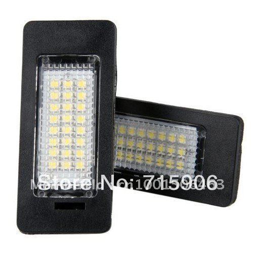 20pairs/LOT White 24 SMD LED License Plate Lights Lamps for E82,E88 E90