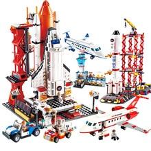 HOT NEW City Airport Aviation VIP Aircraft Space Shuttle Building Blocks Sets Bricks Model Kids Toys Creator Legoings
