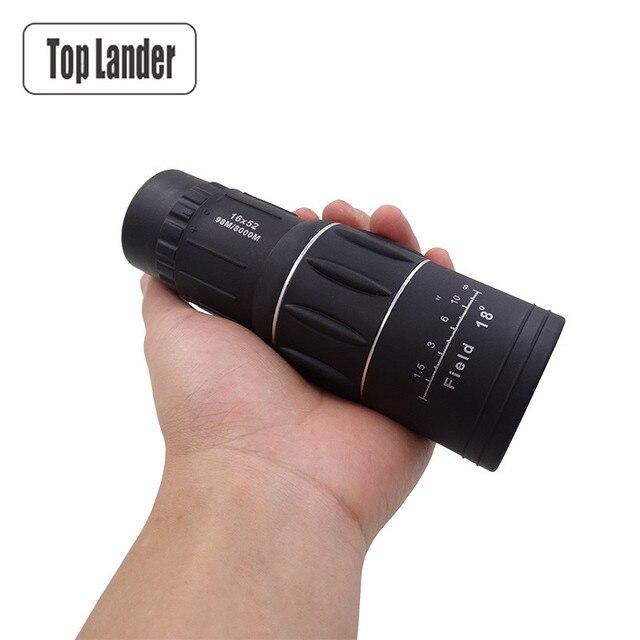 Monocular กล้องโทรทรรศน์กล้องส่องทางไกล HD Outdoor 16X52 ซูมที่มีประสิทธิภาพ Monocular Day Vision ขอบเขต HD Teleskop สำหรับเดินทาง