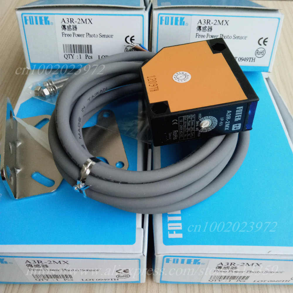 hight resolution of fotek a3r 2mx diffuse reflection photoelectric switch sensor 100 new good quality free power