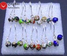 Женские серьги из перегородчатой эмали qingmos круглые Разноцветные