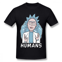 e8166a3f1 Rick And Morty Humans T Shirt Unique Design For Man Organic Cotton O-neck  Tee