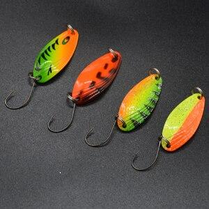 Image 5 - WLDSLURE 12 pièces mixte 3g/4.5g/5g boîte de pêche en métal appât cuillère leurre ensemble truite leurre matériel de pêche