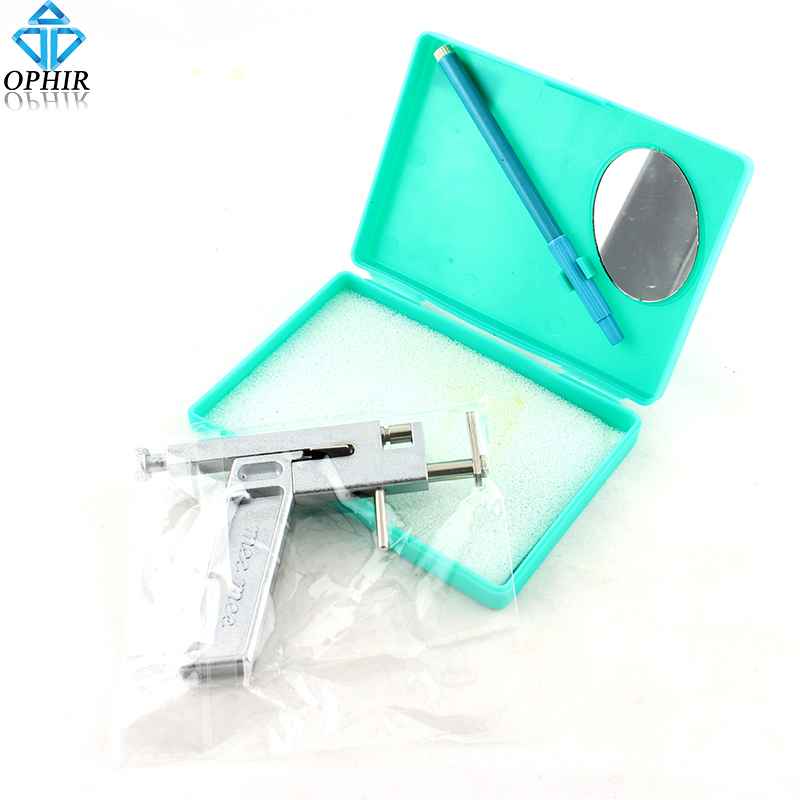 OPHIR Tattoo Ear Piercing Gun Kit Steel Body Piercer Metal Supply_TA028