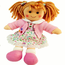 High quality stuffed fashion rag doll toys for girls 28cm kids birthday pink doll gift no smelling machine washable
