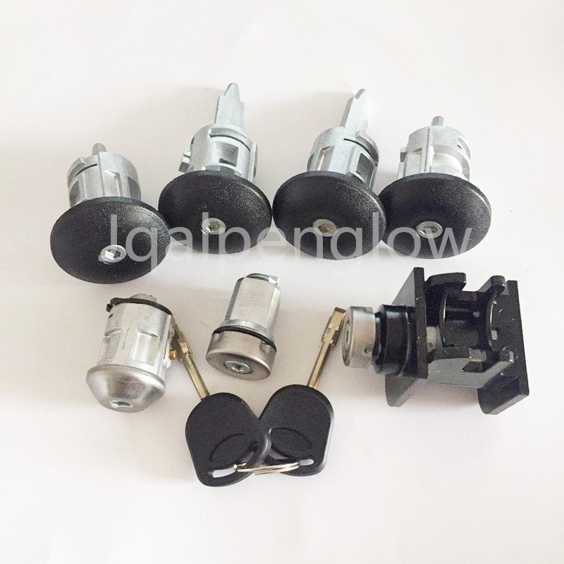 7pcs /set 1C1A-V22050-BA Automobile Anti-theft Auto Lock Door Lock Set For Ford Transit 1C1AV22050BA