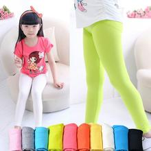 Candy Color Girls Skinny Pants Trousers Girl Pants Soft Elastic Modal Cotton Kids Leggings 2-13Y Children Trousers