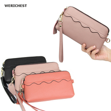 цены Wallet Women Brand Design Cartera Mujer Genuine Leather Clutch Wallets  4 Colors Fashion Long Carteira Feminina Lady Purse