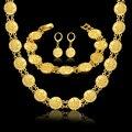 Аллах Устанавливает Ожерелье Браслет Серьги Для Женщин Старинные 18 К Настоящее Позолоченные Исламская Религия Африканских Мусульманских Ювелирных Изделий