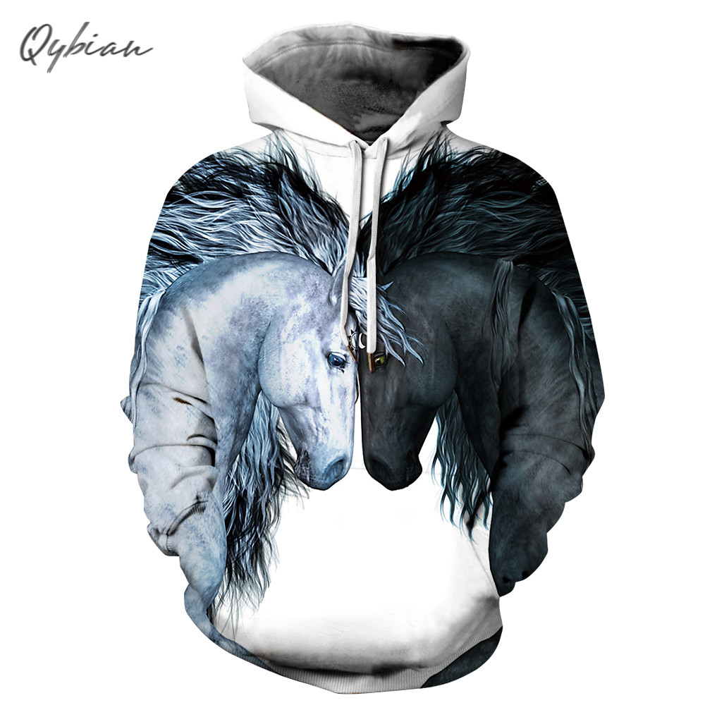 Two Horse Lovers New Fashion Funny Women/men 3d Print Male/femme Hoodies Pullover Mens Tracksuit Sweatshirts Unisex Clothing