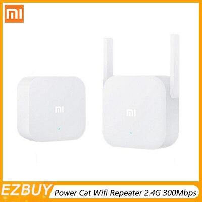 Original Xiao mi puissance électrique chat Wifi répéteur 2.4G 300Mbps sans fil gamme Extender routeur Point d'accès mi Signal amplificateur