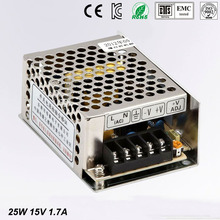 Small Volume Single Output mini size Switching power supply 15V 1.7A ac dc LED smps 25w output Free shipping MS-25-15 цены