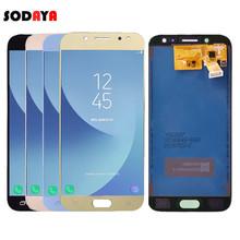 Regulowana jasność do Samsung Galaxy J5 2017 J530 J530F SM-J530F wyświetlacz LCD + montaż digitizera ekranu dotykowego tanie tanio SODAYA Pojemnościowy ekran Nowy For Galaxy J5 2017 J530 LCD i ekran dotykowy Digitizer 1280x720 3 Test One by One Bubble bags with foam box