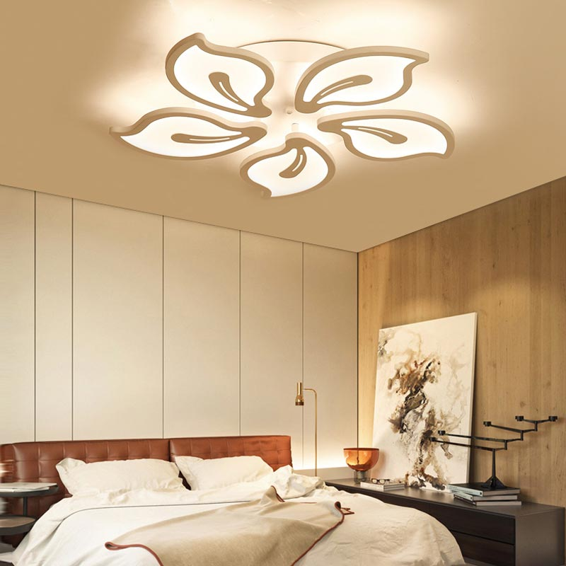Acrylic White Led Lamp Modern Chandelier Lustre With Remote Control Living Room Kitchen Foyer Decor Home Lighting Fixtures 220V acrylic led ceiling light with remote control fixtures modern living room bedroom kitchen lamp decor home lighting dimming 220v