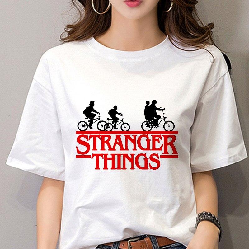 Stranger Things 3 women   t     shirt   2019 New summer   t  -  shirt   female Tops clothes personality tshirt female Harajuku Thin section Tees