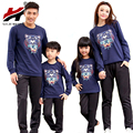 Cartoon Family Clothing Cotton T shirts Clothes For Mother Daughter Father Son Family Set Matching Clothes, White/Navy