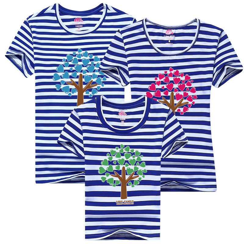 b01587b6839 2017 family clothes Love tree Cartoon T shirt casual sportswear T shirt  printing Mom dad and Me Clothes 3pcs Lot-in Matching Family Outfits from  Mother ...