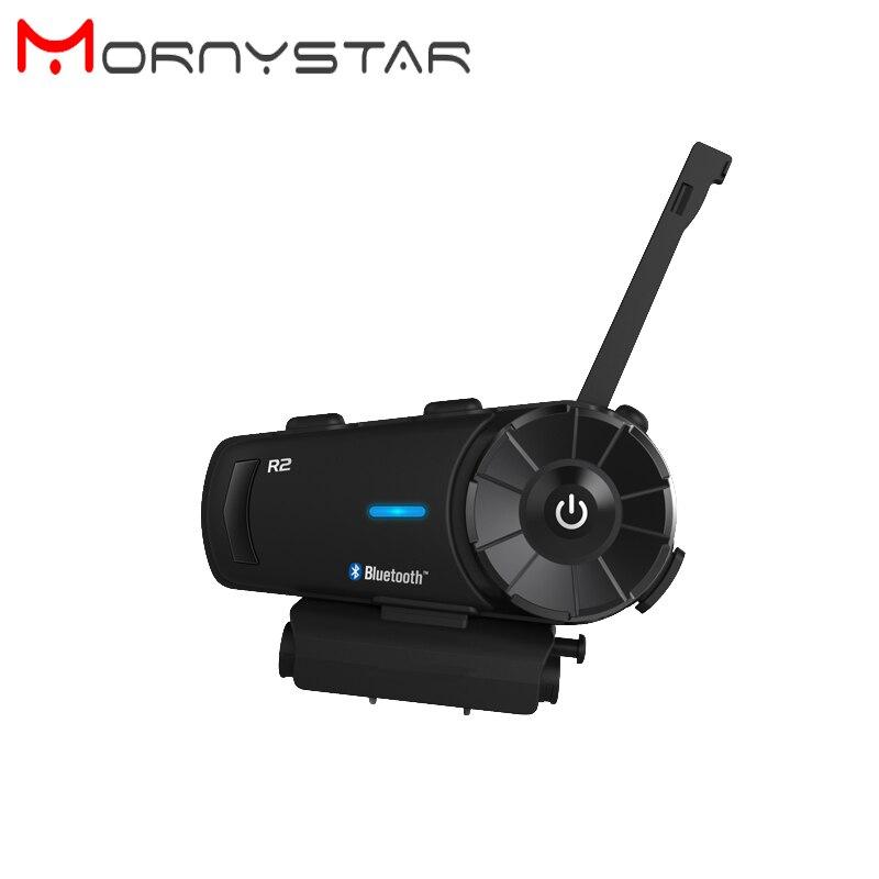 Mornystar R2 BT Bluetooth мотоциклетный шлем домофон гарнитура с fm-радио