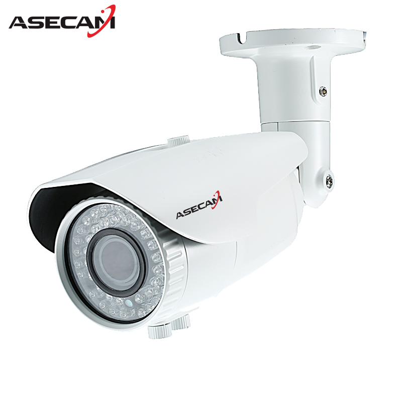 New Super 4MP CCTV Full HD Zoom 2.8~12mm Lens Varifocal HD AHD Camera LED IR Waterproof White Metal Bullet Video Surveillance zea afs011 600tvl hd cctv surveillance camera w 36 ir led white pal