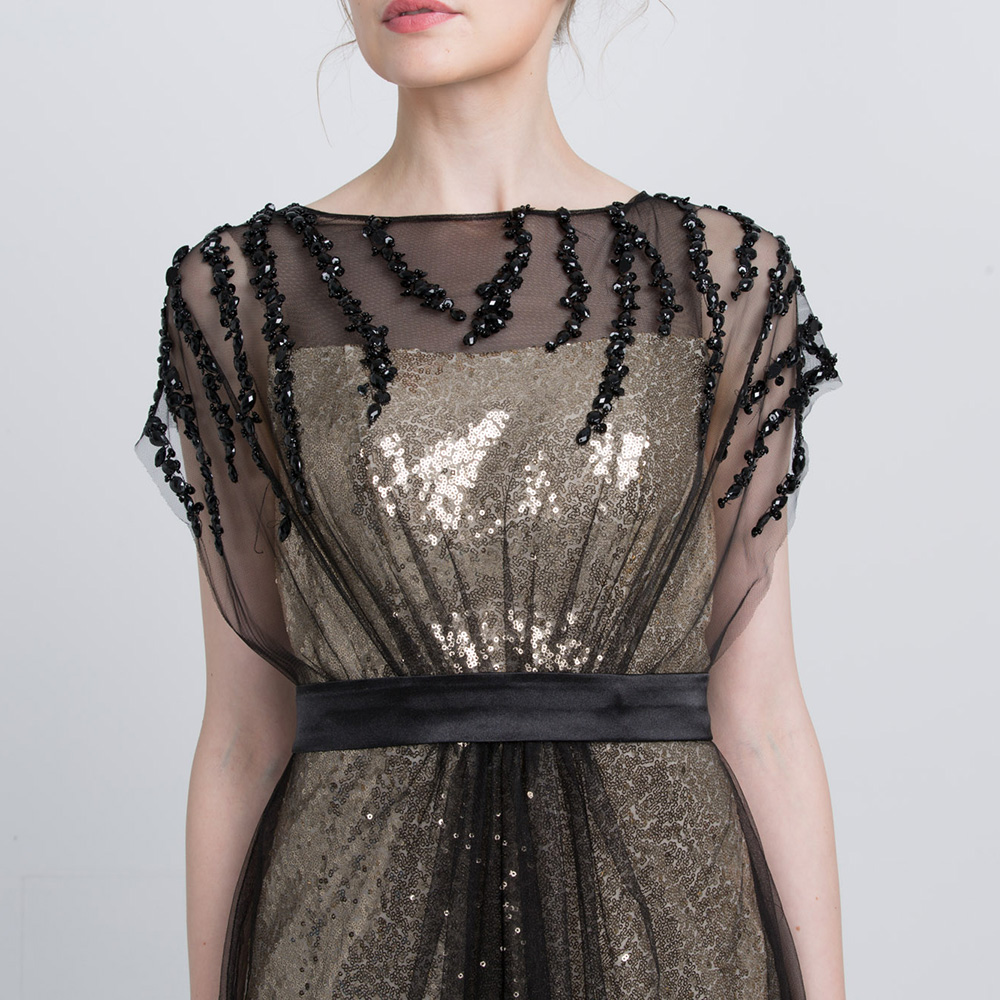 Same Prom Party As Plus Abendkleider Perlen Picture Kleid Kleider 2019 Schwarz Pailletten Formale Lange Meerjungfrau Tüll Size Uxfg6H