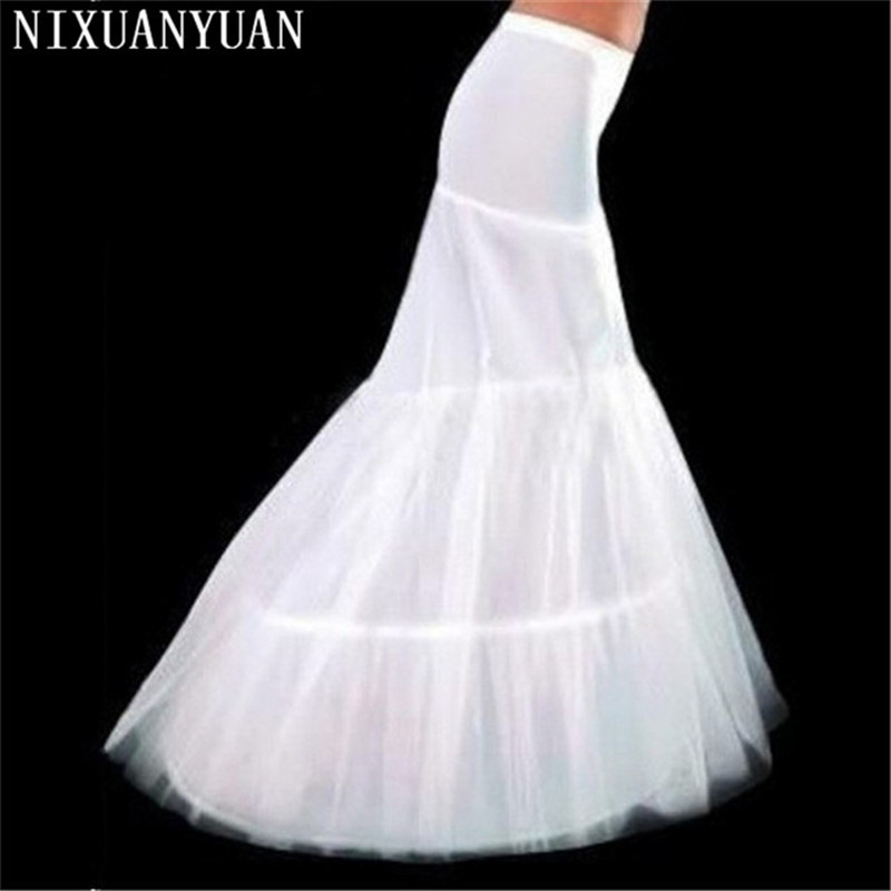 NIXUANYUAN Wholesale Free Shipping Hot Sale Cheap High Quality Mermaid Petticoat 2 Hoops White Wedding Crinoline 2020 New Arriva