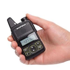 Image 5 - 2pcs Baofeng BF T1 Portable Earphone Ptt MINI Walkie Talkie Handheld bft1 Hotel Civilian Radio Comunicador Ham HF Transceiver