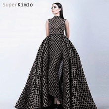 SuperKimJo 2019 Evening Dresses with Detachable Train