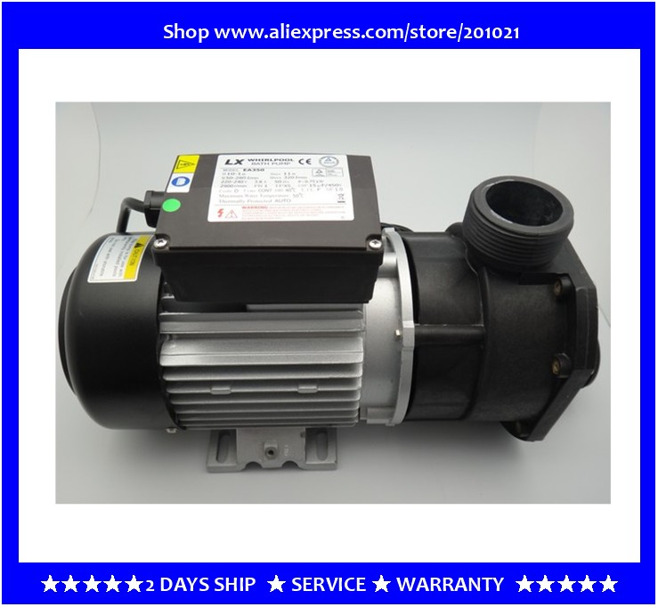 EA350-Y Circulation Pump Hot Tub Spa Tubs Whirlpool Bath LX EA350 Bomba de agua EA350; Pompe d'eau whirlpool lx dh1 0 hot tub spa bath pump 1hp