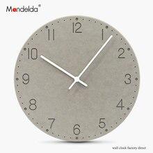 Mandelda Modern Creative Large Wall Clock Waterproof 11 inch Lightweight Round Watche Home Promotion Living Room Decor