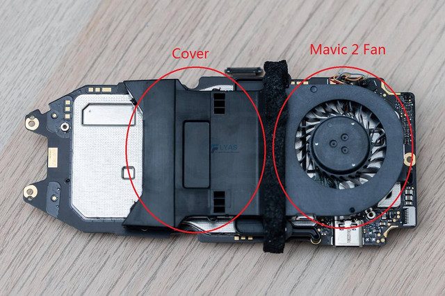 Genuine DJI Mavic 2 Pro/Zoom Part –  Fan /  Heat Sink Wind Shield Cover Spare Parts for Replacement