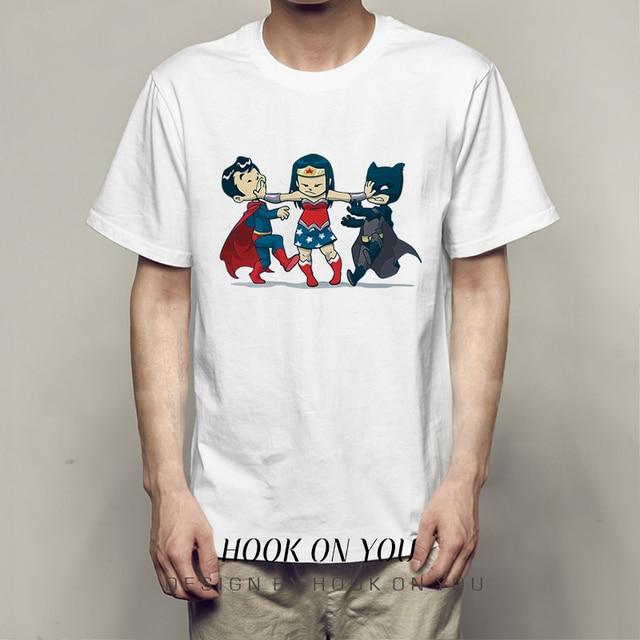 a5abf8ac4018f Justice League T Shirt Wonder Woman Aquaman Cyborg Flash T shirts Batman  Superman T-shirt Comic Anime Unisex Tee fashion tops