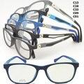Atacado 1063 aluno TR90 colorido óptica full-rim com 180 graus dobradiça flexível primavera quadrado quadro vidros ópticos para menino