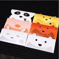 8 16cm Cute Cartoon Animal Envelope Cards Kids Fun Message Cards Birthday Invitation Cards