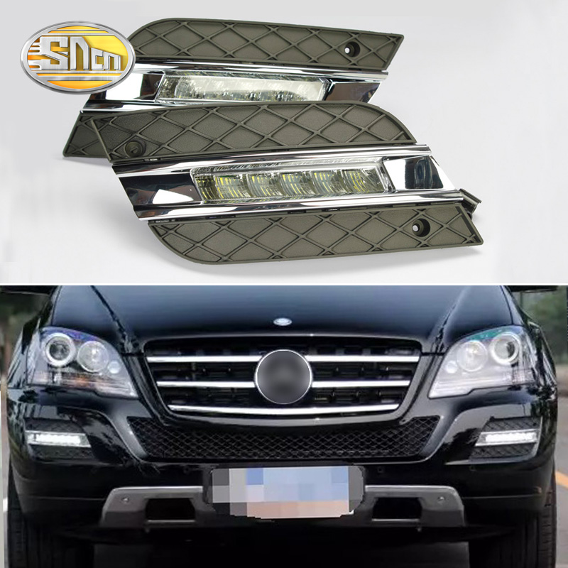 2PCS For Mercedes Benz ML350 W164 ML280 ML300 ML320 2010 2011 Waterproof ABS 12V Car DRL