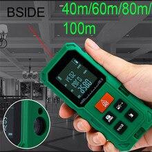 Wholesale prices Laser Distance Meter 40M 60M 80M 100M Laser Rangefinder Laser Tape Range Finder trena ruler Diastimeter Measure Roulette
