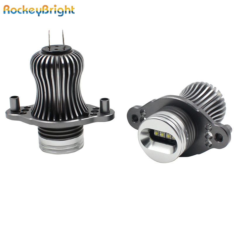 Rockeybright 12v 40W <font><b>led</b></font> marker <font><b>headlight</b></font> bulb for <font><b>bmw</b></font> <font><b>e90</b></font> e91 with halogen pre lci 6500k white <font><b>led</b></font> angel eyes <font><b>e90</b></font> car <font><b>headlight</b></font> image