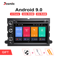 2 din Android 9.0 Car Radio For Ford Escape Ford F150 F250 Fusion Mustang Expedition Explorer 2005 2007 2008 DVD GPS Navigation