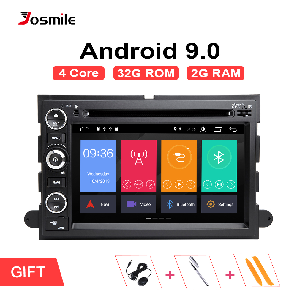2 din Android 9.0 autoradio pour Ford Escape Ford F150 F250 Fusion Mustang Expedition Explorer 2005 2007 2008 DVD GPS Navigation