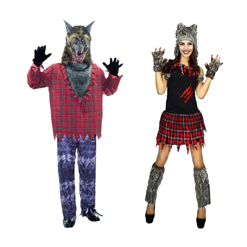 new sexy adult halloween cosplay costumes wolf animal costume for women man party uniforms set mascot - Halloween Costumes Wolf
