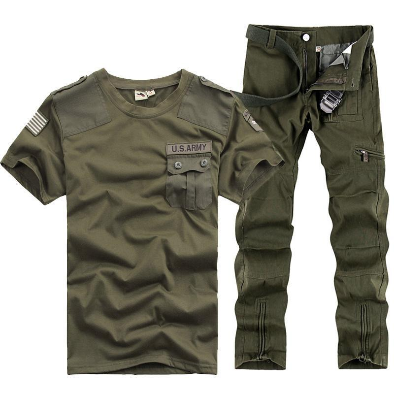 NEW US Army Tracksuits Sports Sets Men Military Training Camping Hiking Outdoor Running Suits Serve Army Fans Uniform