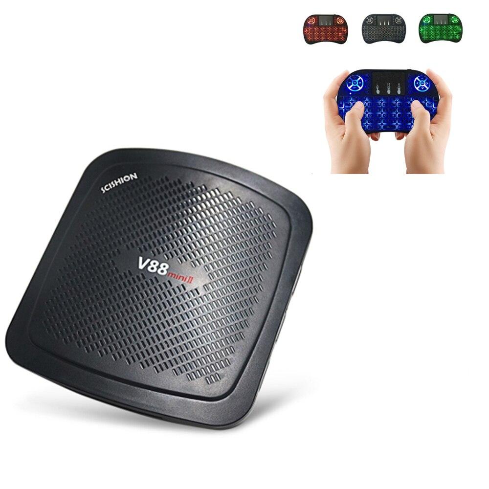 Original SCISHION RK3229 V88 Mini II Android 6.0 TV Box 4 núcleo Bluetooth 4.0 2