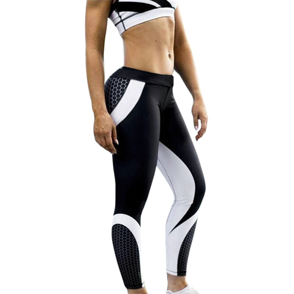 Womens 3D Print Skinny Workout Gym   Leggings   Sports Training Cropped Pants