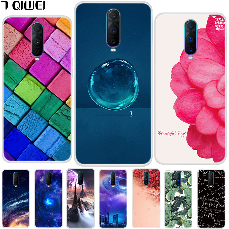 new product e263c 3d922 6.4'' For OPPO RX17 Pro Case Soft TPU Silicone Case For Oppo RX17 Pro  Rx17pro Case Cover RX 17 Pro Painting R17 Pro Slim Hoesje